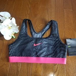 Nike Girls' Sports Bra Black/Pink Size M